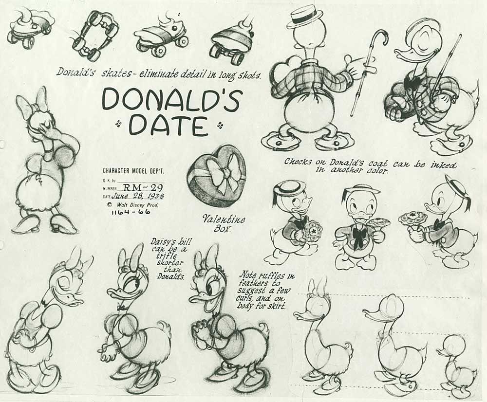 Steve's Gift To ·  Drawing Disneydisney Sketchesdonald Duckdisney