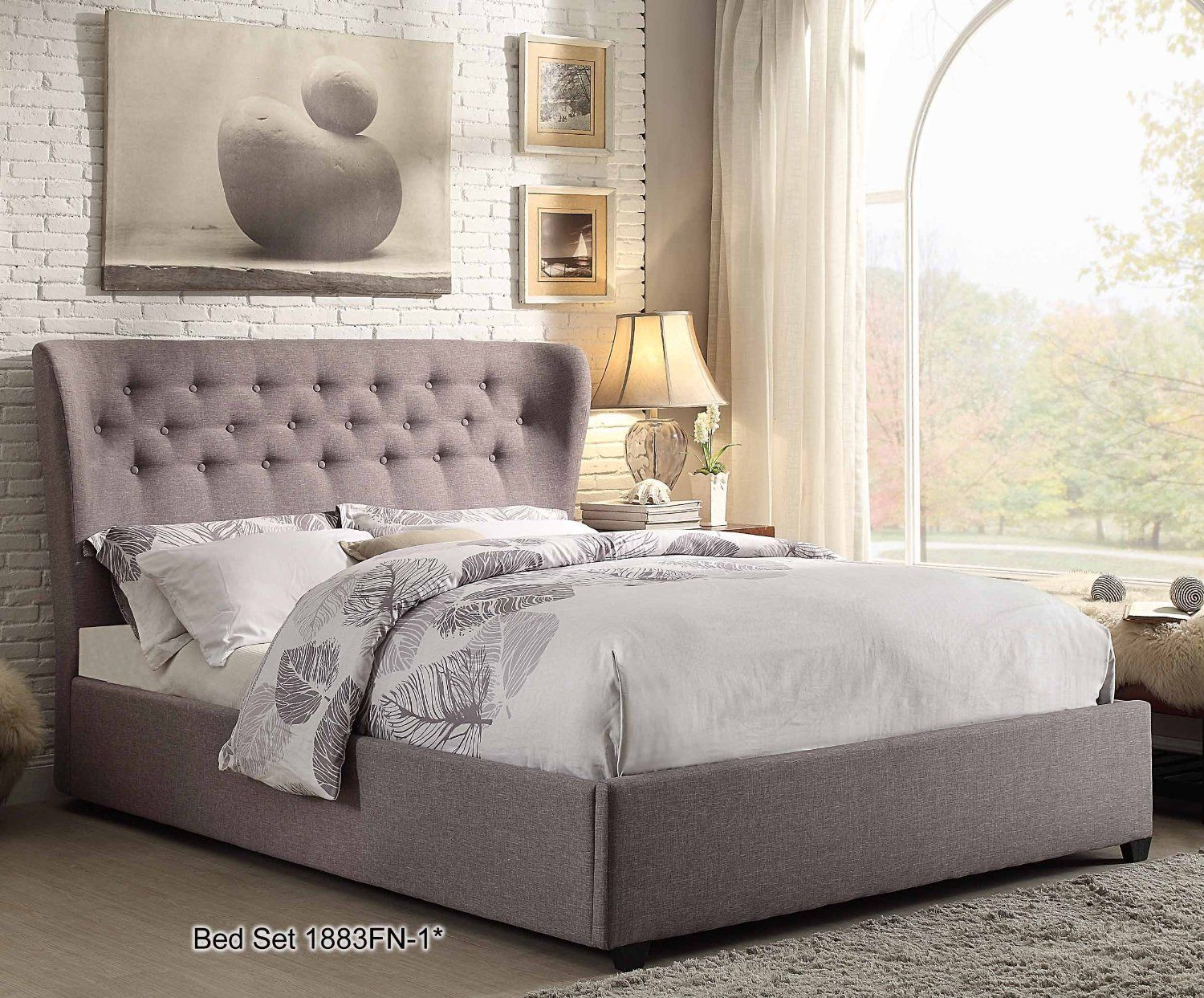 Homelegance 1883N1* Button Tufted Wing