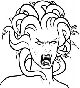 Drawing Medusas Head Step By Step By Dawn Arte Medusa Desenhar