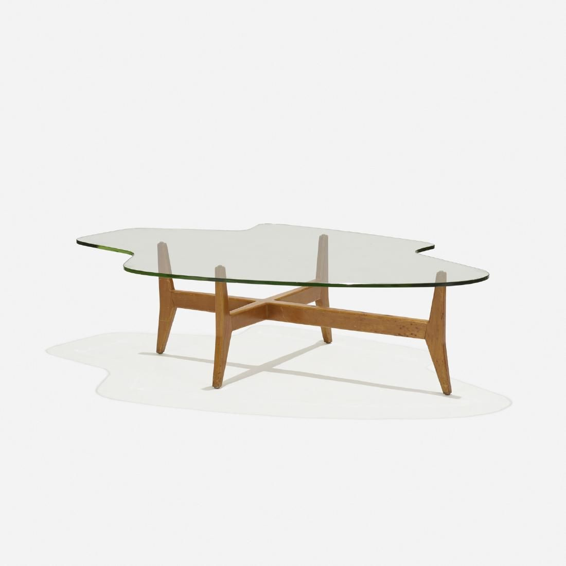Lot: Jens Risom, Freeshape coffee table, model T-362, Lot Number: 0291, Starting Bid: $2,000, Auctioneer: Wright, Auction: Design of Richard Schultz / American Design, Date: February 17th, 2017 EST