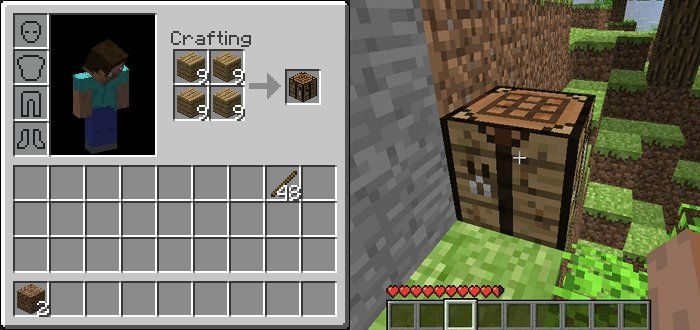 How To Build A Crafting Table In Minecraft Pe 3 Ways to Make