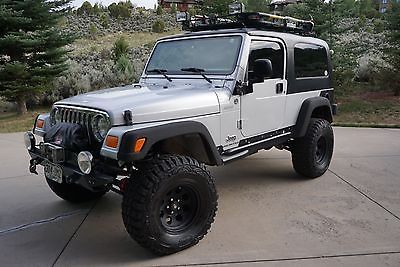 EBay: 2005 Jeep Wrangler TJ Unlimited 2005 Silver Jeep TJ Wrangler  Unlimited With Black Hard Top And Tons Of Extras #jeep #jeeplife