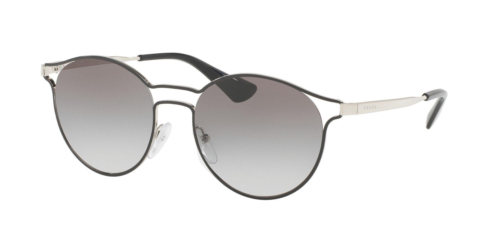 PRADA Prada Damen Sonnenbrille »CINEMA PR 62SS«, schwarz, 1AB0A7 - schwarz/grau