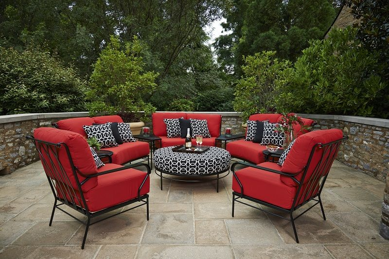 Patio Furniture Tulsa Ok With Images Red Patio Furniture Red Patio Decor Deep Seating Patio Furniture