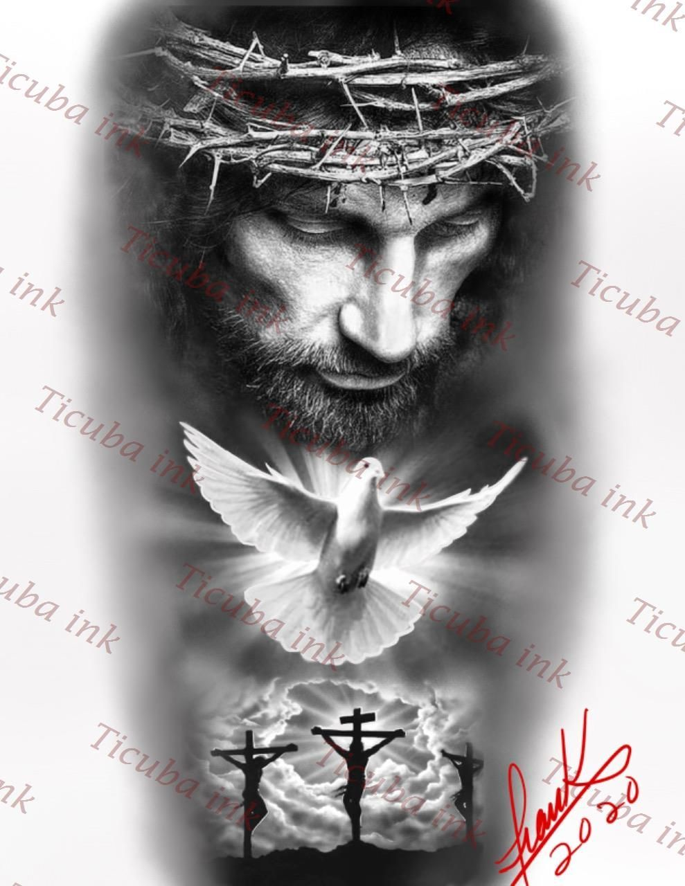 Elegir El Diseño P Not Tatuaje No Siempre Es Lo Máazines Sencillo Huh Cual Debes Considerar M En 2020 Tatuajes De Manga Religiosos Tatuajes Del Cielo Tatuaje De Jesús