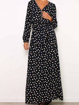 Nightblue Floral Maxi Dress