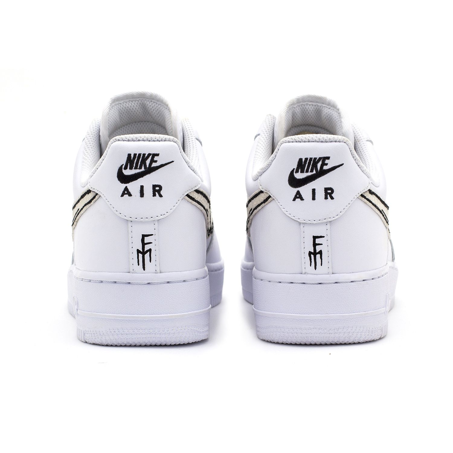 brand new fc902 08337 FATAL AIR FORCE 1 Bone   White Low Custom Sneakers – STILLALIVE