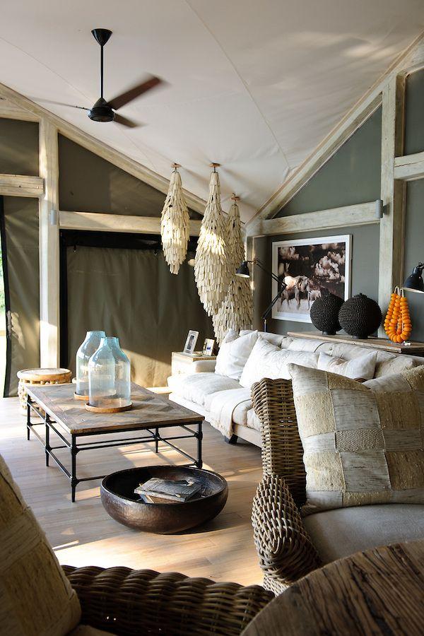 Abu camp botswana interior design pinterest decor for Arredamento stile africano
