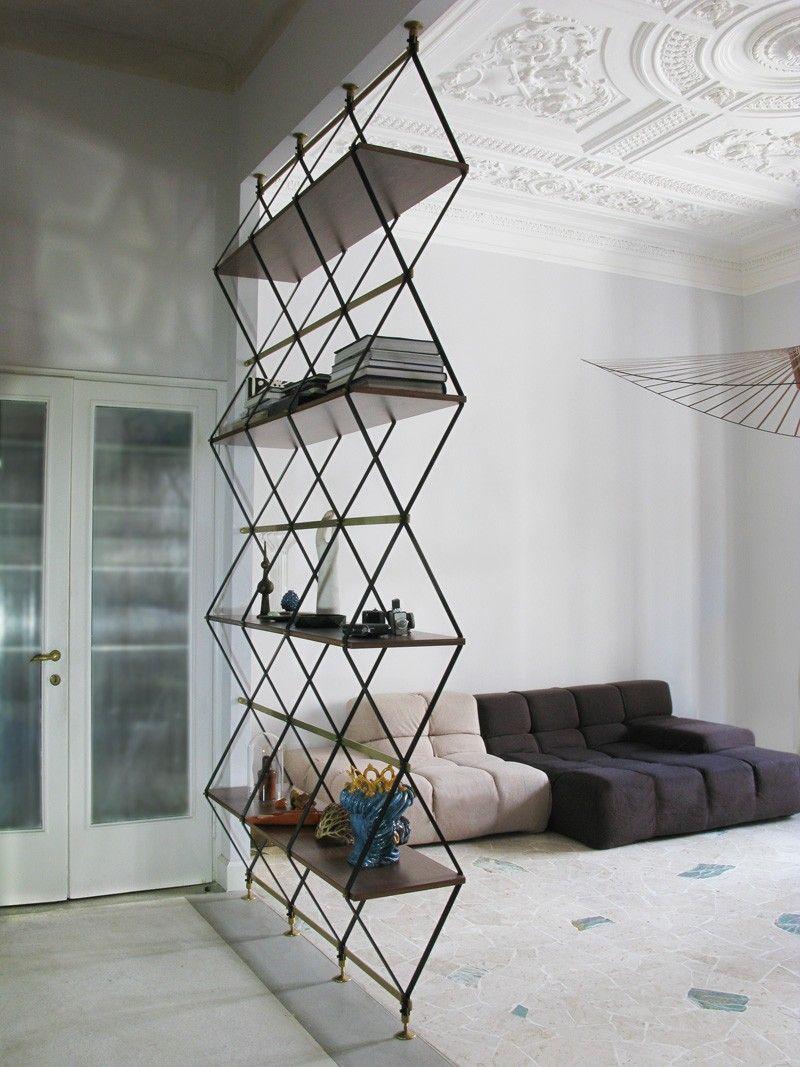 Pietro Russo Designs A Floor To Ceiling Shelf Space Divider