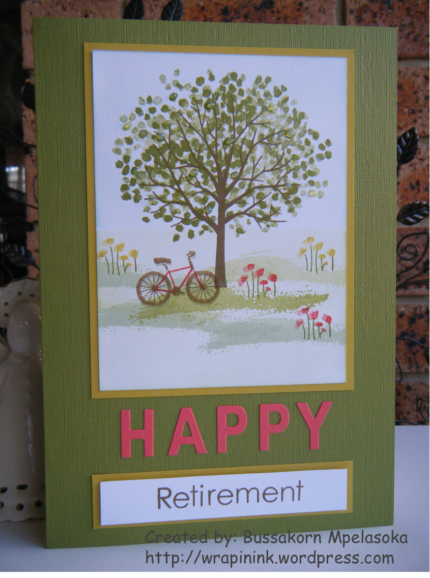 Happy retirement card Stampinu0027 Up Sheltering Tree