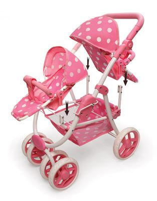 Reversible Double Stroller For Dolls For Dolls Up To 16