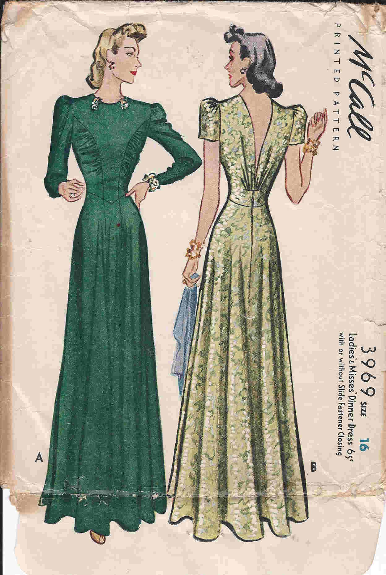 1938 - 1945 Ladies' Evening Wear In 2019