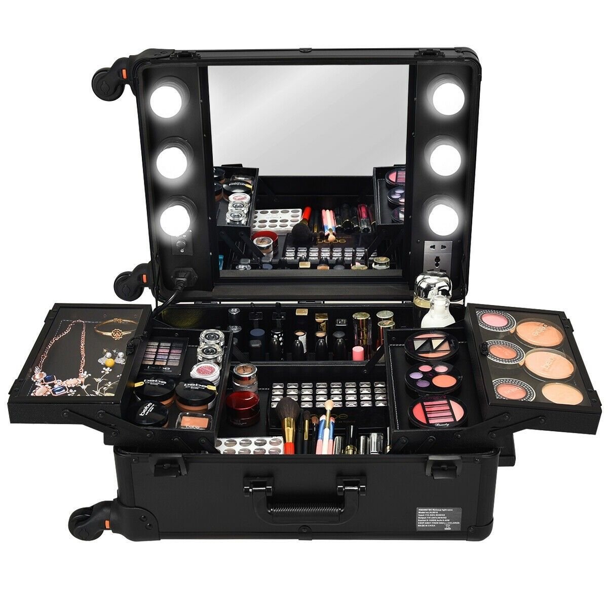 Studio Artist Train Rolling Makeup Case Light Wheeled