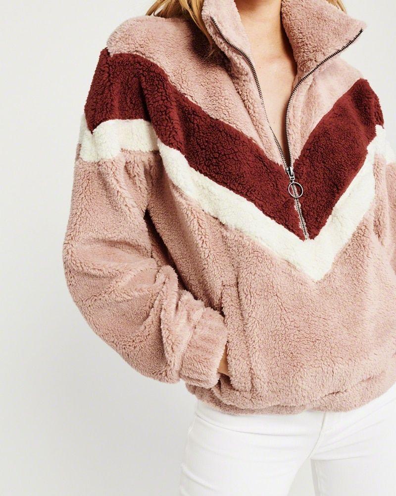 d2bb28d1 Colorblock Sherpa Half-Zip Sweatshirt | Wishlist in 2019 | Half zip ...