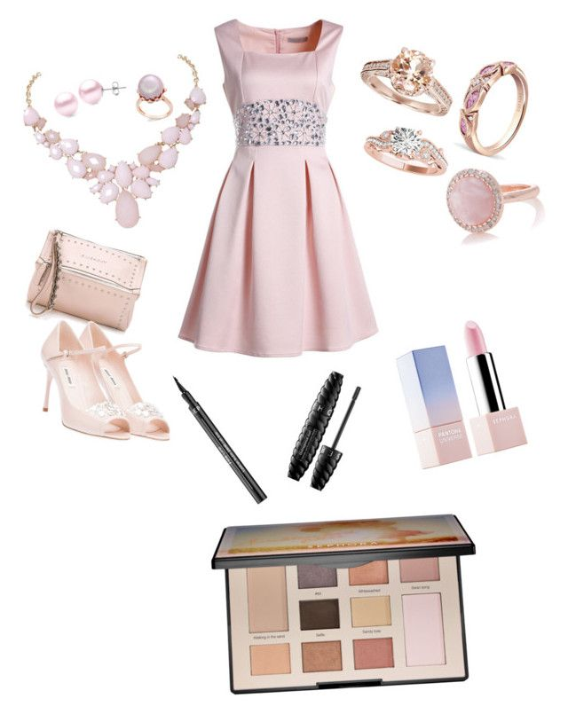 """""""semi-formal"""" by lp-lp ❤ liked on Polyvore featuring Givenchy, Humble Chic, Suzy Levian, Miu Miu, Allurez, Oasis and Sephora Collection"""