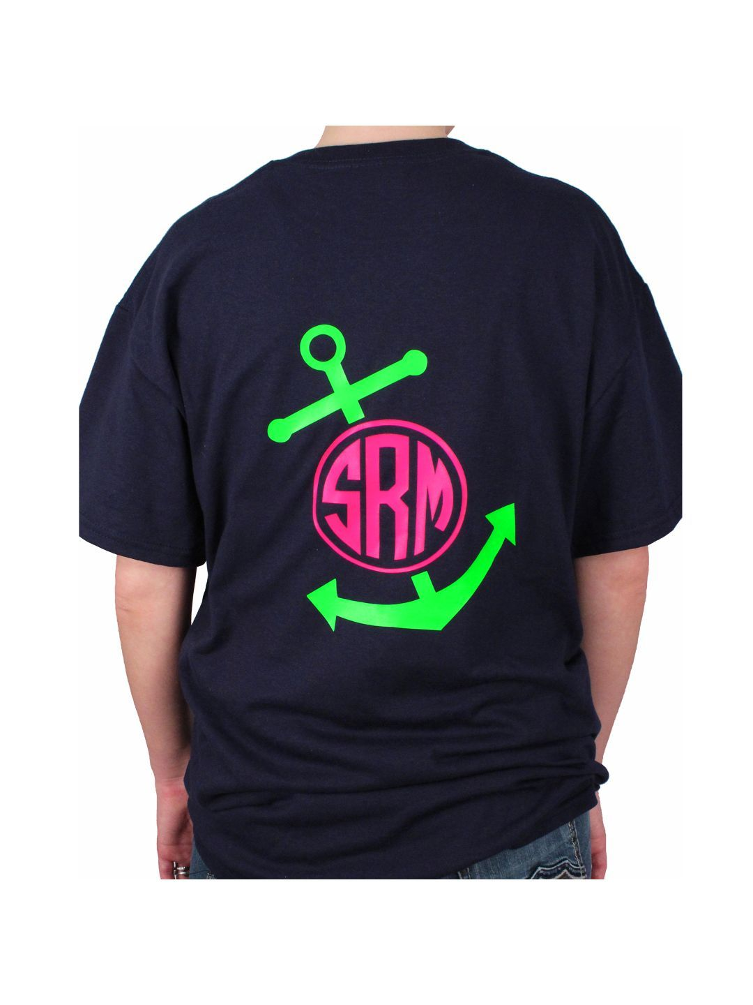 Anchor monogram short sleeve relaxed fit tshirt