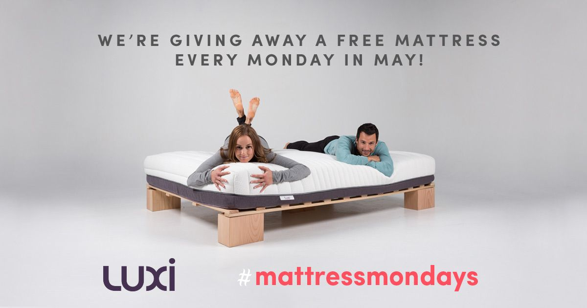 Fill Out The Entry Form For Up To Five Chances To Win A Free Luxi Mattress A Winner Will Be Drawn Every Monday Dur Mattress Sweepstakes Giveaways Weird Gifts