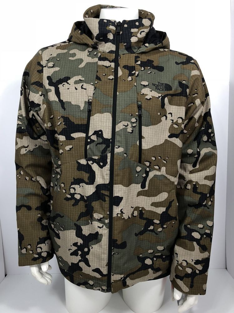 8d5b3c65162 The North Face Mens Apex Elevation Camo Woodland Hooded Soft Shell ...