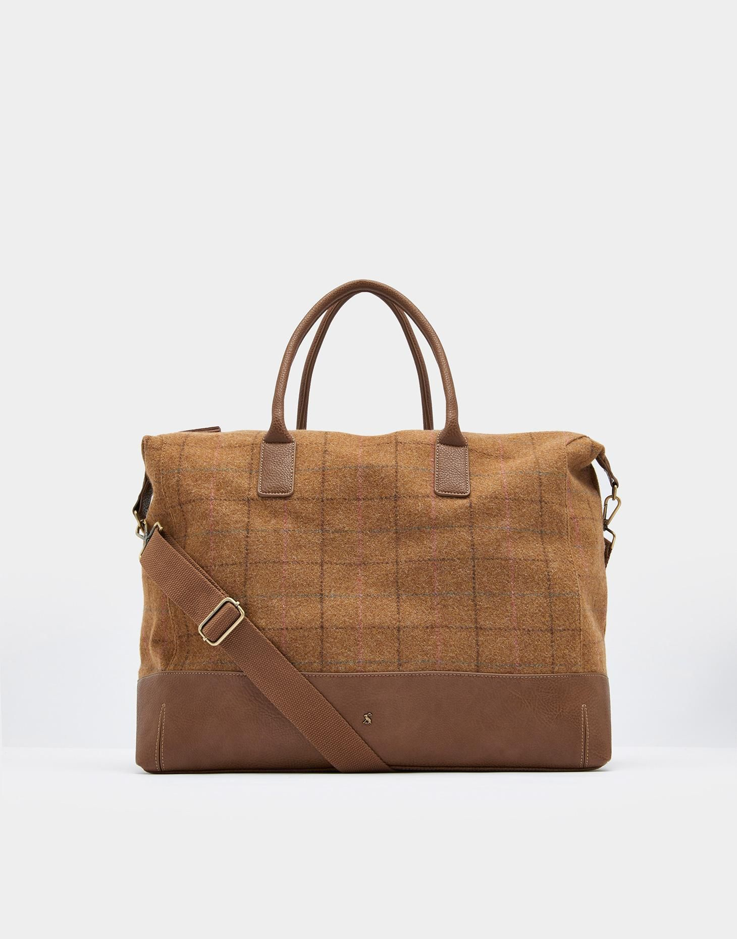 416dbbfb9910 Joules Paddington Tan Check Tweed Weekend Bag | accessories in 2019 ...