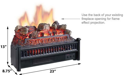 Enjoyable Comfort Smart 23 Electric Fireplace Insert Log Set Heater Home Remodeling Inspirations Cosmcuboardxyz