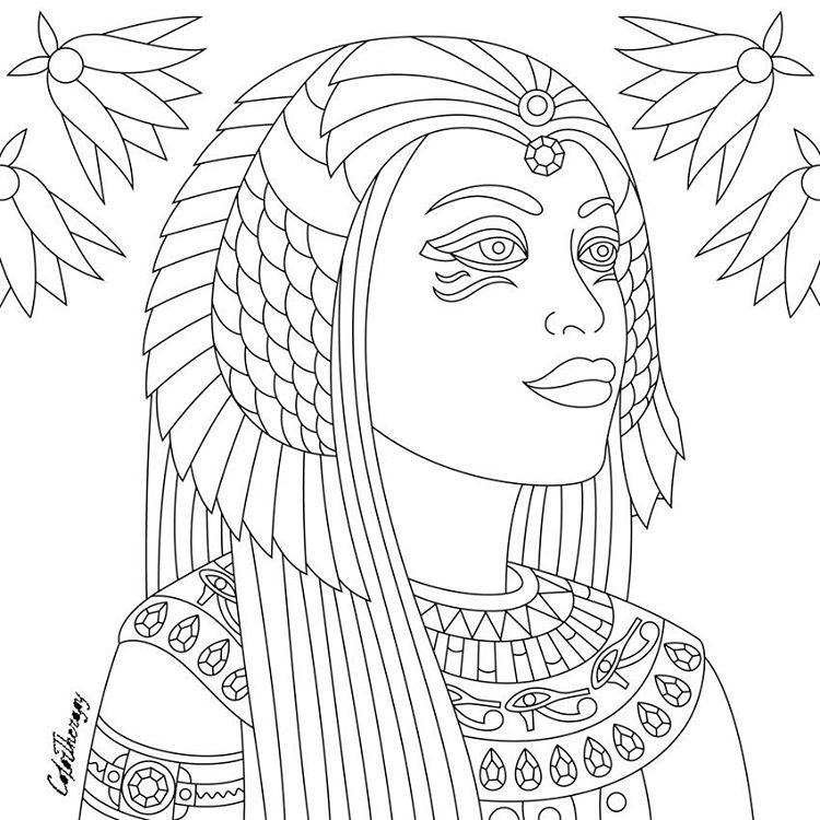 egyptian women coloring pages - photo#11