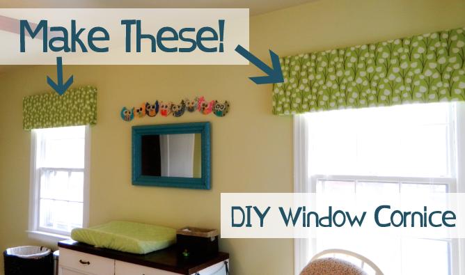Make your own window cornice super cheap decorating for Super cheap home decor