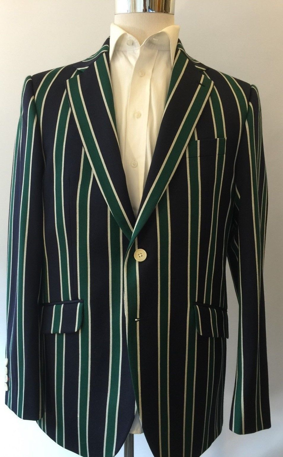 Details about SALE! CHARLES TYRWHITT NEW $795 Striped Blue Green ...