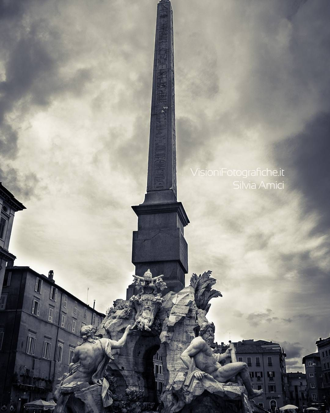 Fountain of the Four Rivers in the Piazza Navona in Rome it was designed by Gian Lorenzo Bernini.  #travelgram #thegoodlife #rome  #vacaymode #traveltips #travelfriendly #wheretonext #architecture #travel #history #picoftheday #photooftheday #instagood #monument #italy #love #sky #city #trip #beautiful #buildings  #tourism #holiday #vsco #art #photography #fourriversfountain  #igers #ancient #instatravel