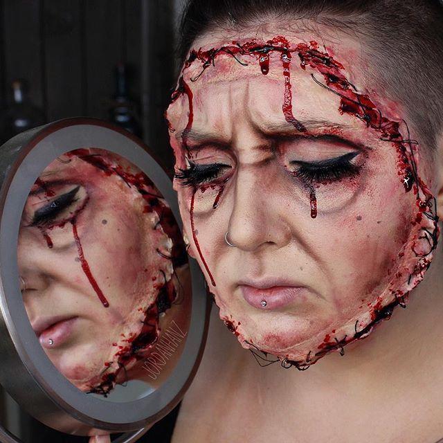 Halloween Make Up Jordan Hanz Creepy Snapchat Face Swap Filter