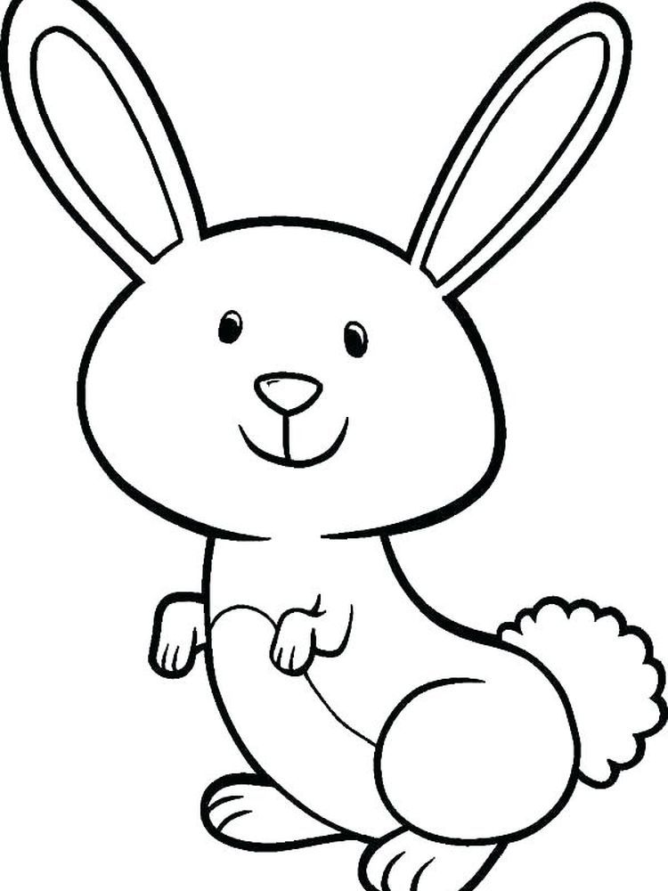 Bunny Coloring Page Free Below Is A Collection Of Easy Bunny Coloring Page Which You Bunny Coloring Pages Kids Printable Coloring Pages Easter Bunny Colouring