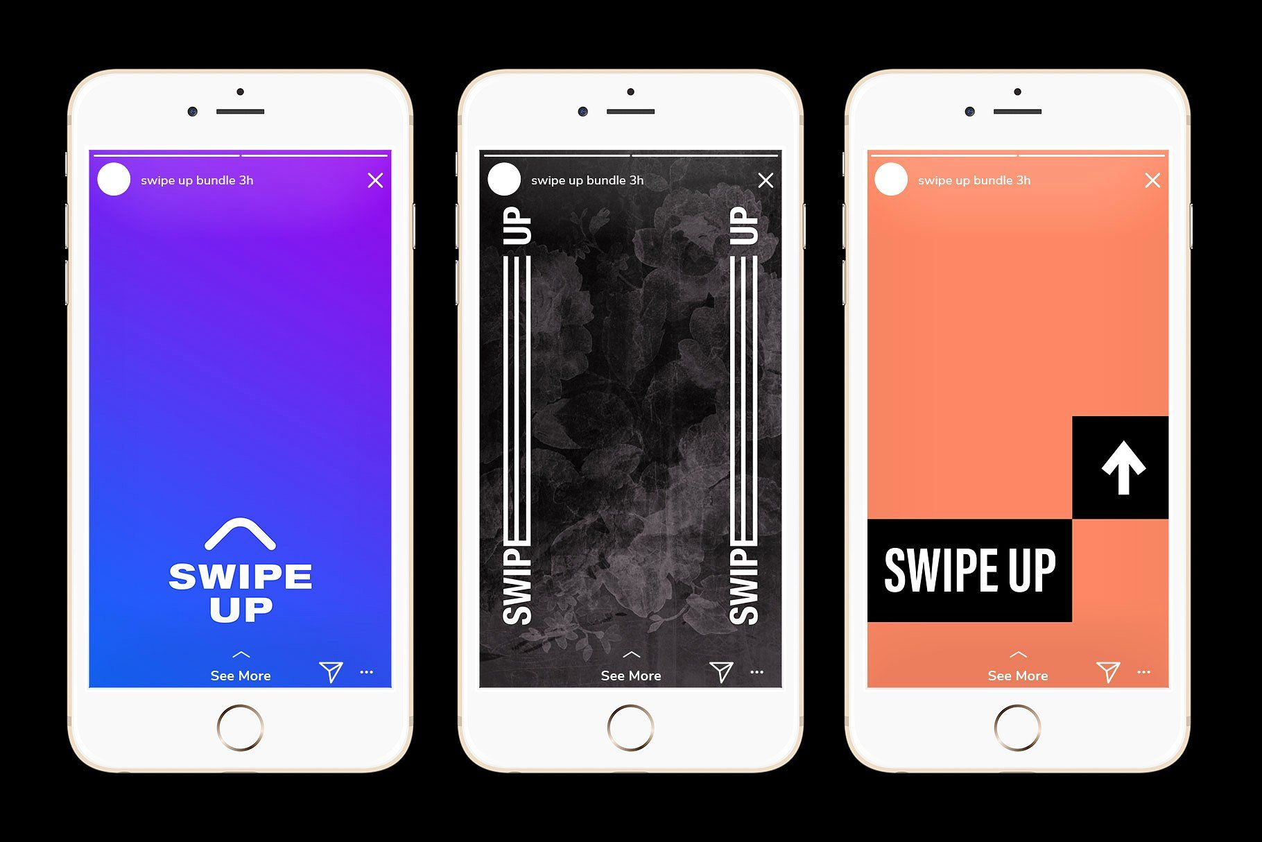 Instagram Swipe Up Bundle 250 Design Users Influencers Hd Instagram Template Instagram Samsung Galaxy Phone