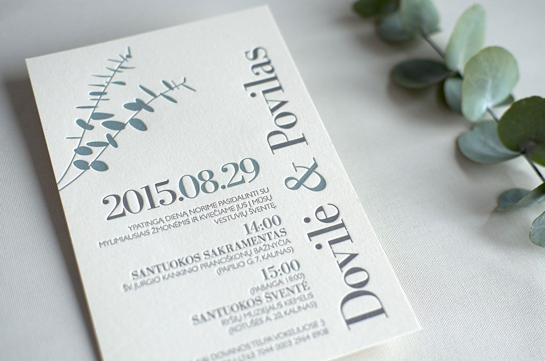 Eucalyptus wedding invitation 1 | layout | Pinterest