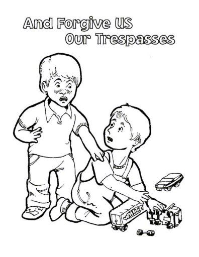praying coloring pages preschool lords prayer coloring forgive us our tresspasses