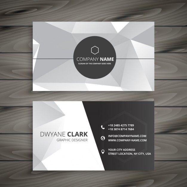 carte de visite abstrait en gris