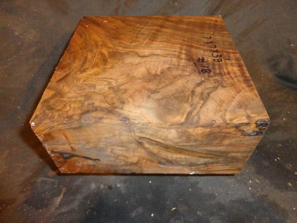 BEYOND BEAUTIFUL Super Black Walnut FIGURED rootstock 7 x 7 x 3 1/8 #18