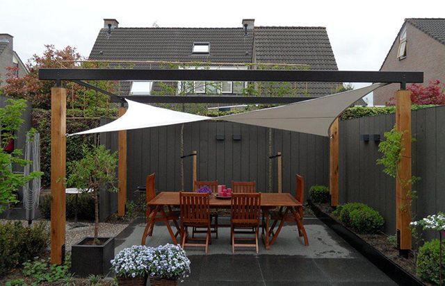 Terras overkapping doek google zoeken garden ideas pinterest pergolas modern pergola - Doek voor tuinborstel ...