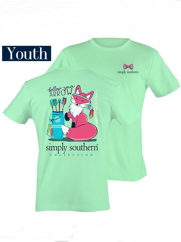 25f86a28 Simply Southern YOUTH SIZE Follow Your Arrow Fox Tee - Julep ...