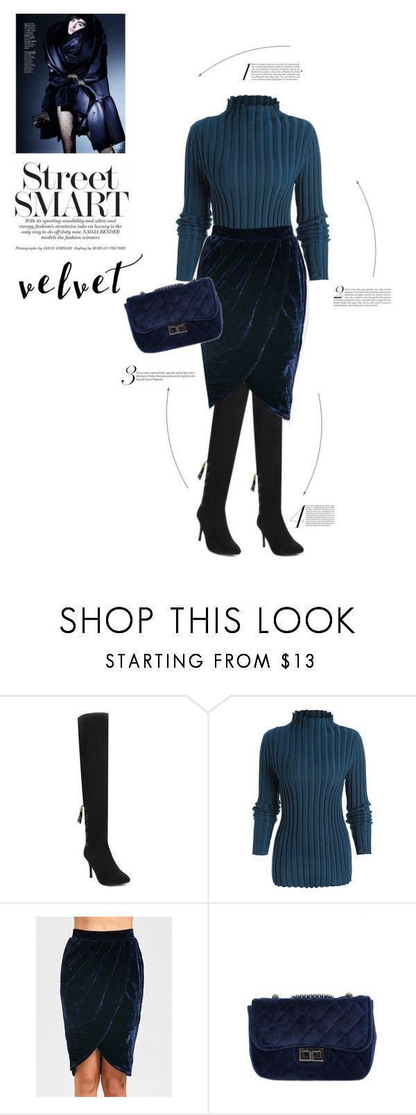 """Velvet skirt"" by stellina-from-the-italian-glam ❤ liked on Polyvore"