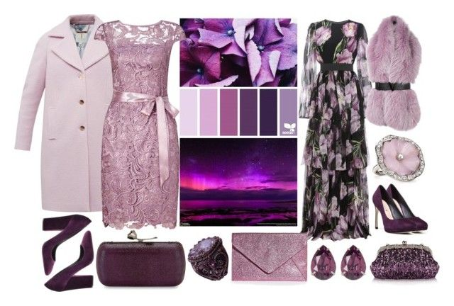 """""""purple evening"""" by shaverina-a on Polyvore featuring мода, National Geographic Home, Dolce&Gabbana, Versace, Ted Baker, Adrianna Papell, Via Spiga, Chicnova Fashion, Lela Rose и Boohoo"""