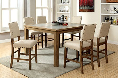 Furniture Of America Lucena 7Piece Transitional Pub Dining Set U003eu003eu003e You Can  Get More