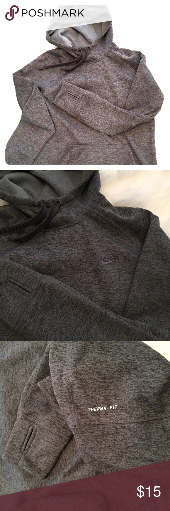 Nike sweatshirt Therma Fit Nike sweatshirt. Great condition! Soooo soft and comfy- great for fall/winter runs or workouts. Or lounging... lounging is ALWAYS great 😜 Nike Tops Sweatshirts & Hoodies