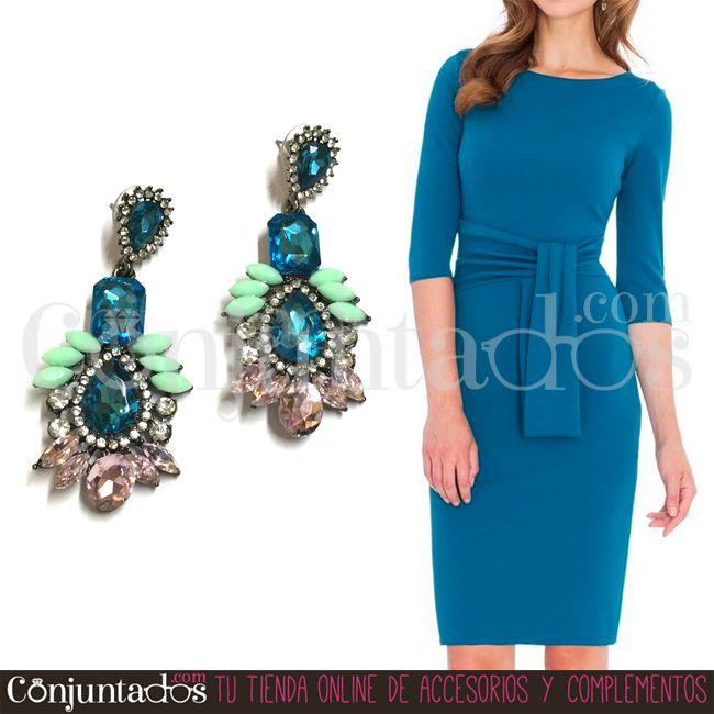 #pendientes para todos los gustos y para todas las ocasiones. Los Abby son unos fabulosos pendientes de vivos colores para mujeres con carácter y seguras de sí mismas ★ Precio: 12,95 € en http://www.conjuntados.com/es/pendientes-abby-en-azul.html ★ #novedades #earrings #conjuntados #conjuntada #joyitas #jewelry #bisutería #bijoux #accesorios #complementos #moda #fashion #fashionadicct #picoftheday #outfit #estilo #style #GustosParaTodas #ParaTodosLosGustos
