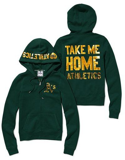 950fc465 Victoria's Secret Pink® Oakland Athletics Bling Zip Hoodie | My ...