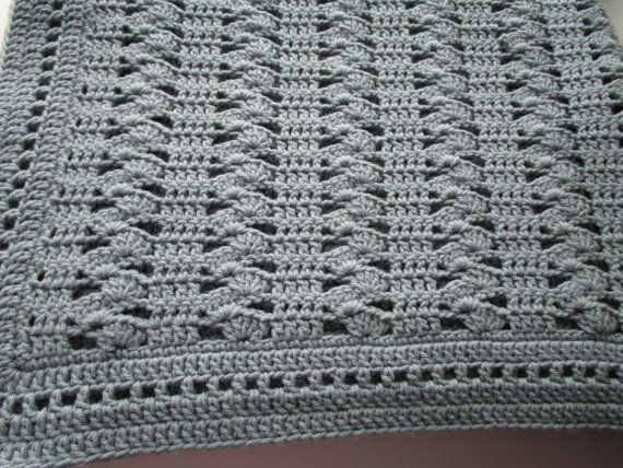 Crochet Afghan Pattern, Easy Crochet Blanket Pattern, Interlocking ...