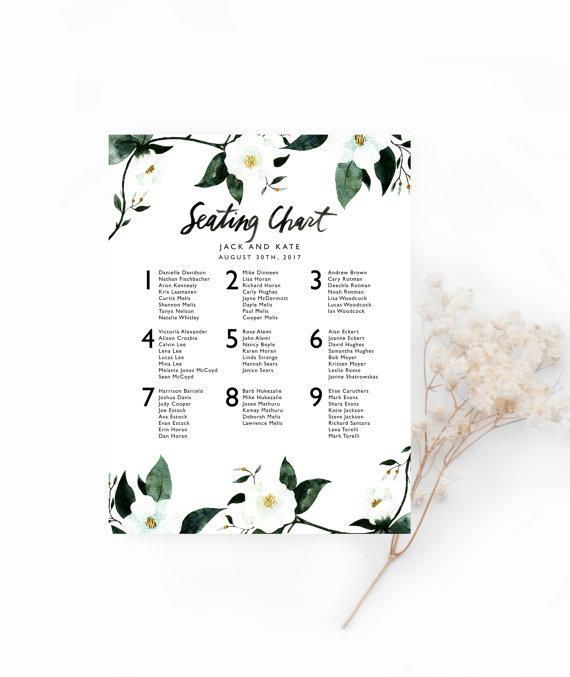 printable wedding seating chart template customizable digital