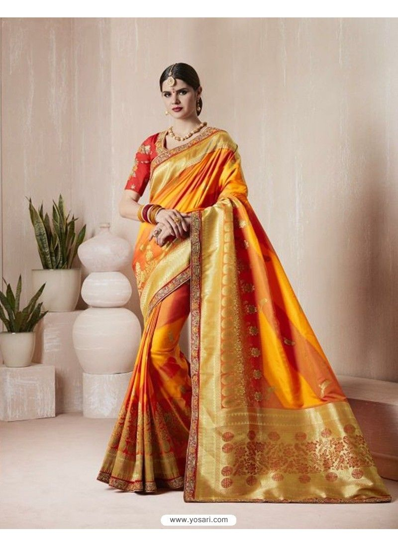 Designer Silk Sari Ethnic Bollywood Wedding Bridal Party Wear Saree Blouse  MA