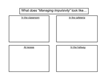 Managing Impulsivity Activity | Search and Worksheets