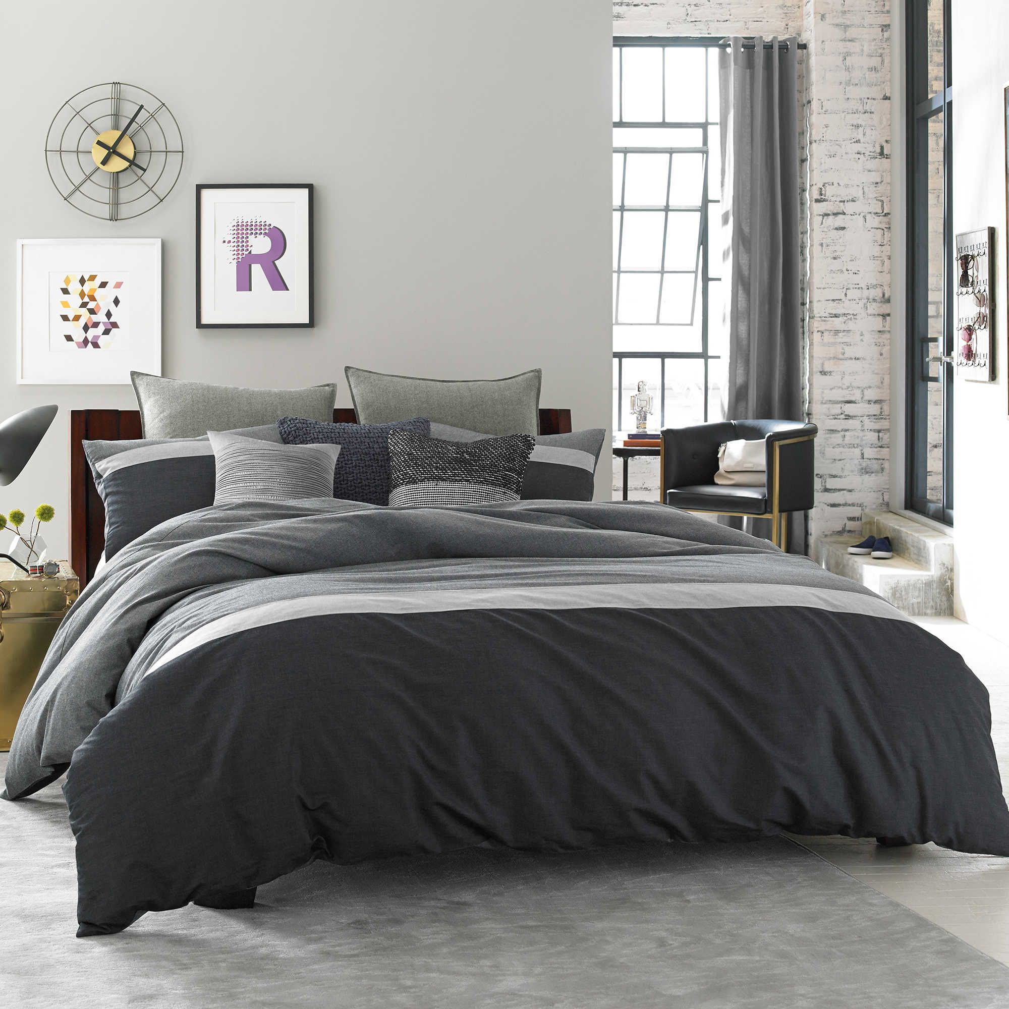 Kenneth Cole Reaction Home Fusion Duvet Cover In Indigo Kenneth