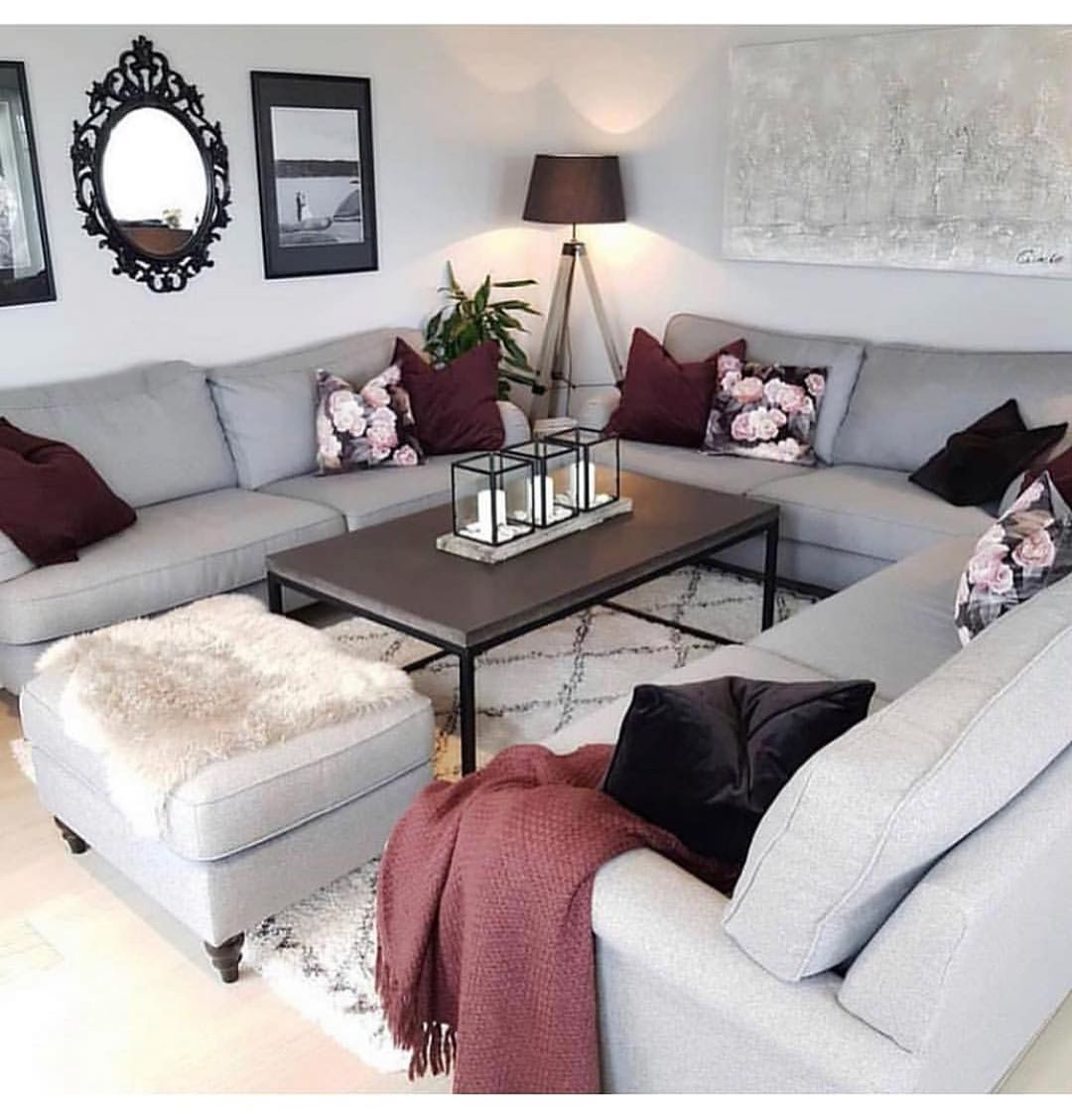 Pinterest scottythoughts   Burgundy living room, Living room ...