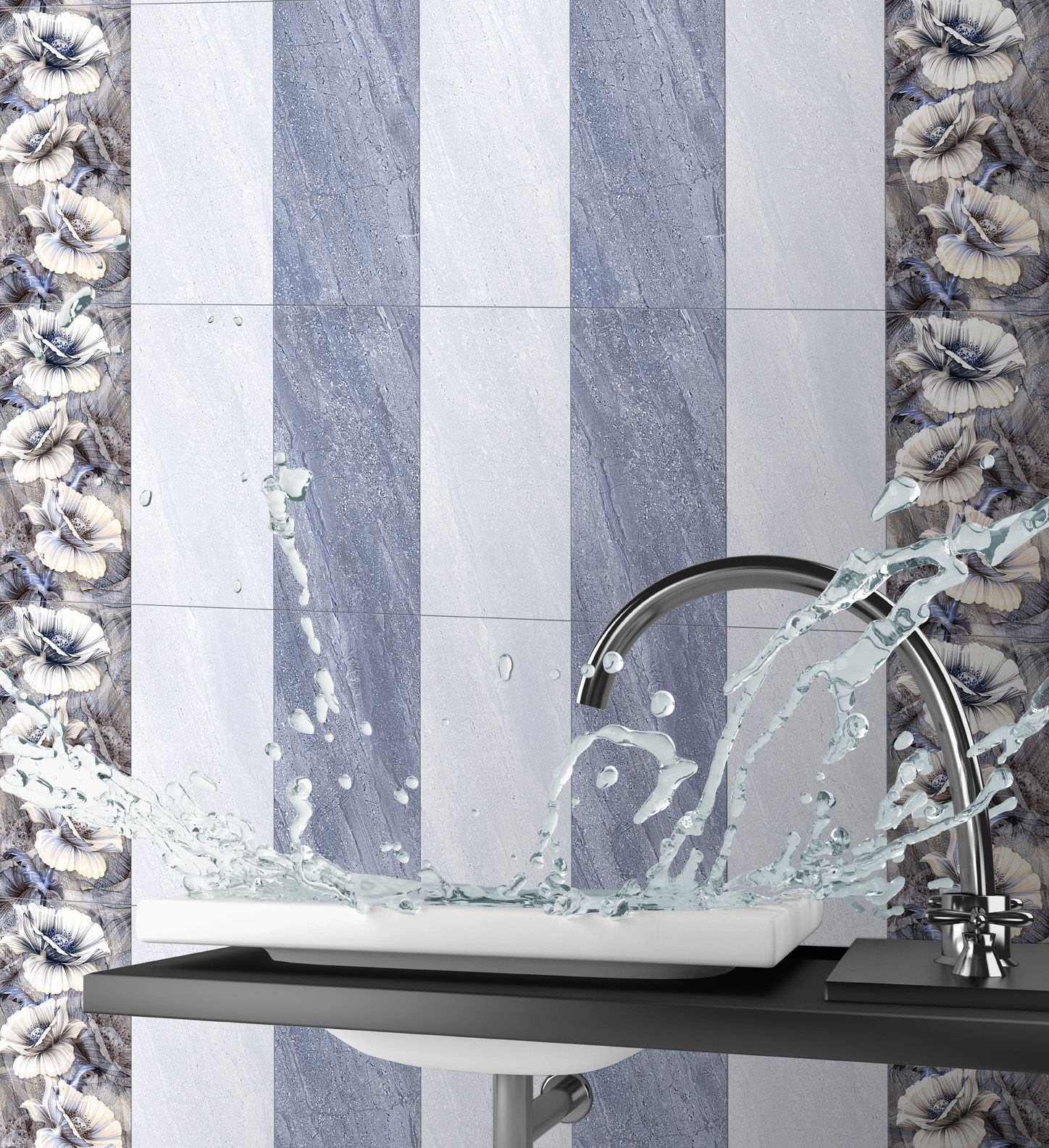 Charming Glossy Digital Wall Tiles For Bathroom In 300*600 Size.   See More Digital Part 6